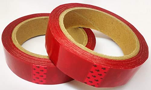 2 Stück 2,5cm x 50m Sicherheitsklebeband Siegel-Klebeband Sicherheitsklebeband Manipulationssicher Farbe: rot