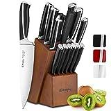 Emojoy Ensemble de Couteaux, 15 pièces Bloc de Couteaux de Cuisine avec Bloc,...