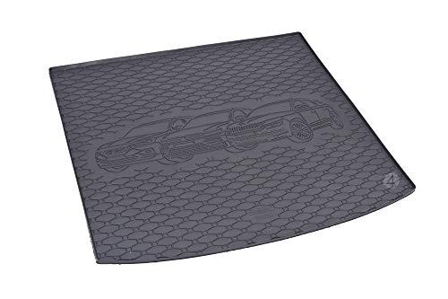 RIGUM Passgenaue Kofferraumwanne geeignet für Skoda Kodiaq 5-Sitzer ab 2017 + Autoschoner MONTEUR