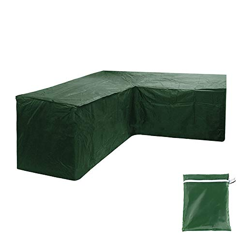 L-shaped Garden Furniture Cover Corner Sofa Cover Heavy-duty Oxford Cloth Sofa Cover Waterproof Windproof Dustproof Protective Corner Sofa Cover with Storage Bag for Outdoor Patio Sofa Couch