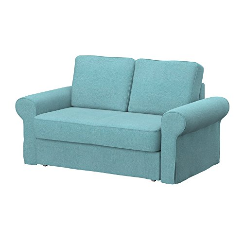 Soferia - IKEA BACKABRO Funda para sofá Cama de 2 plazas, Glam Sky Blue