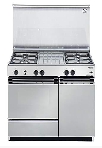 De Longhi SGGX854 N ED - Cucina a gas con forno a gas grill, 90x50 cm