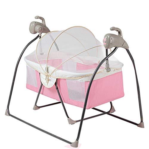 Büro-Schreibtischstuhl Zwei-In-Eins-Kombinierte Elektrische Wiegenhalterung Mit Moskitonetz, Faltbar, Großformatige Babywiege (Farbe: Pink) (Farbe: Pink)