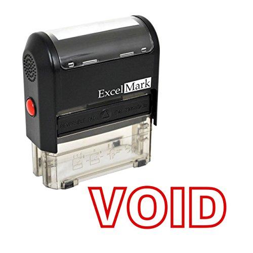 Void Self Inking Rubber Stamp - Red Ink