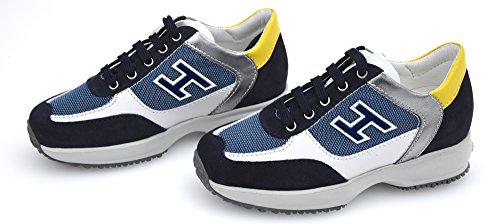 Hogan Junior New Interactive Bambino Scarpa Sneaker Casual HXC00N0324240Y922E 30 Jeans SC.+Denim SC. - Dark Jeans+Dark Denim
