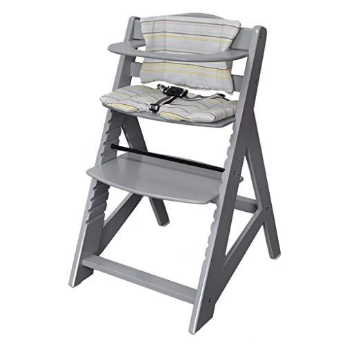 Kinderstoel Trapstoel Babybstoel Hoge kinderstoel Meegroeiende trapstoel Grijs 2533-G