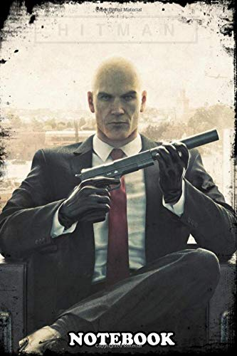 """Notebook: Hitman , Journal for Writing, College Ruled Size 6"""" x 9"""", 110 Pages"""