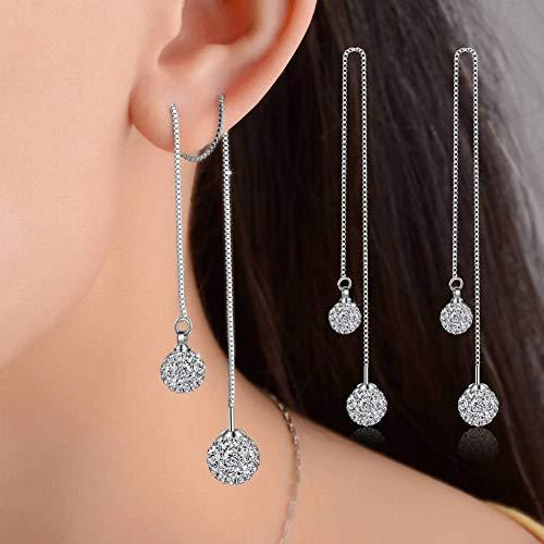 Stijlvolle eenvoud lange kwast stijlvolle eenvoud oorbellen wild kristal shambhala boor oorbellen vrouwelijke oor stijlvolle eenvoud sieraden, boren bal 8+10Mm, MN