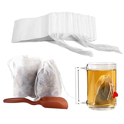 Tea Filter Bags by Tooerlen Tea Bags 300 pcs Loose Leaf Tea Infuser...