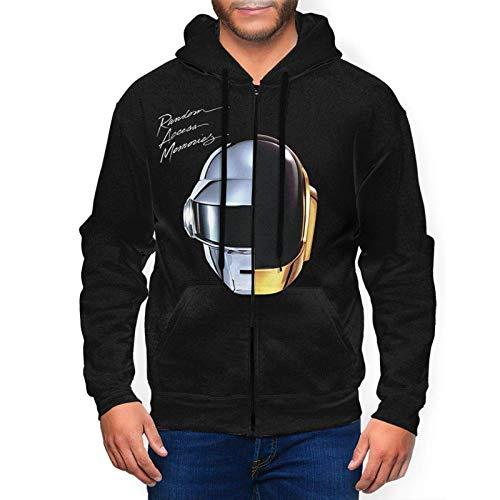 Daft Punk Random Access Memories Hoodie Mens Casual Full Zip Long Sleeve Pullover Sweatshirts Fleeces
