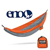 ENO, Eagles Nest Outfitters SingleNest Lightweight Camping Hammock, Orange/Grey