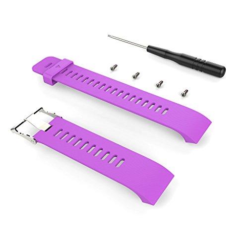 Leiouser - Correa de silicona de repuesto compatible con reloj GPS deportivo Gar-min Forerunner 35