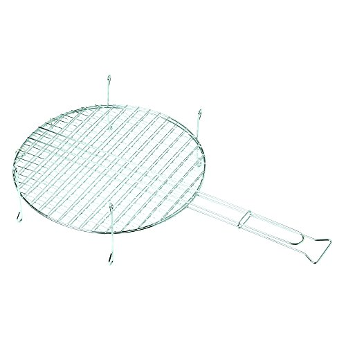 Algon AA46 Parrilla Doble Redonda, Gris, 41x15.5x71 cm