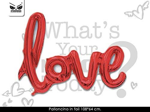 Partycolare Palloncino Mylar Scritta Love Rossa 102x64 cm