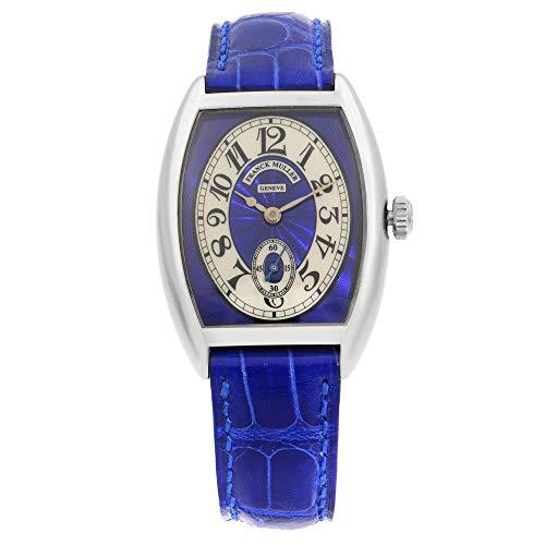 Franck Muller Cintree 7502 S6 - Reloj de pulsera para mujer, oro azul de 18 quilates, esfera plateada