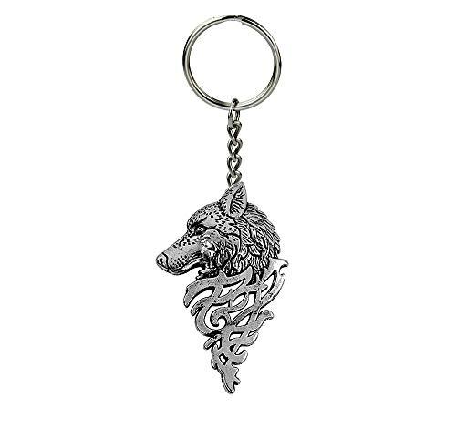 Publisit - Llavero, diseño de lobo, Wolf, para hombre y mujer, animales