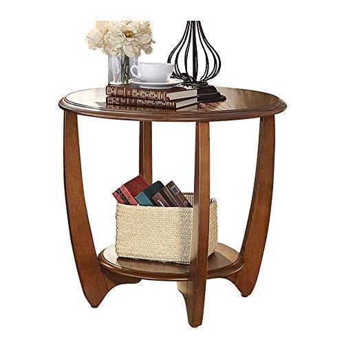 Tische Wang Klapptisch Moderner runder Couchtisch Couchtisch Brauner Wohnzimmer Schlafzimmer Bar Hotel Bambus Beine
