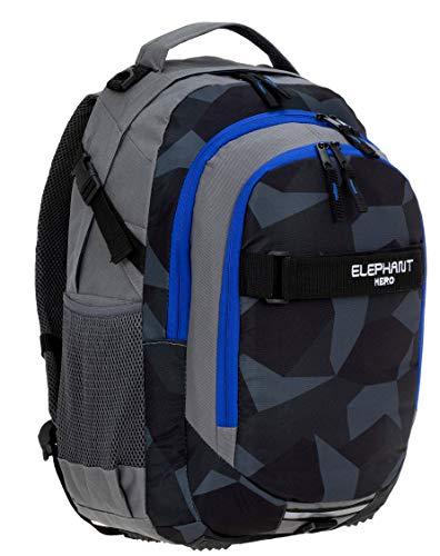 ELEPHANT Schulrucksack Hero Signature Rucksack 12770 (Cyber Camo Blau (Schwarz/Blau))