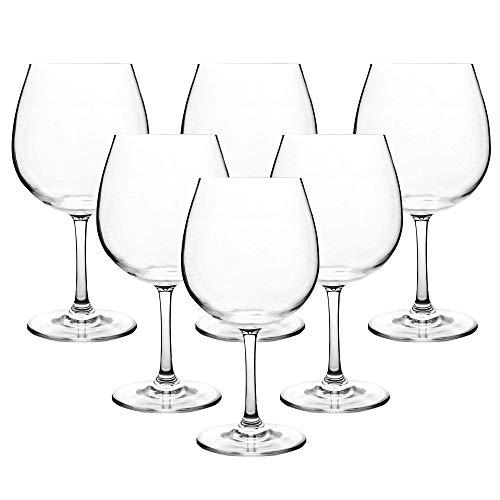 Classic 23-ounce Unbreakable Wine Glasses-100 Tritan Plastic Stem Wine Glasses set of 6Dishwasher SafeBPA Free clear 23-ounce
