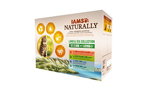 bester Test von real nature wilderness katzenfutter Die IAMS Natural Land & Sea Collection von Sauce ist ein komplettes Nassfutter für erwachsene Katzen…