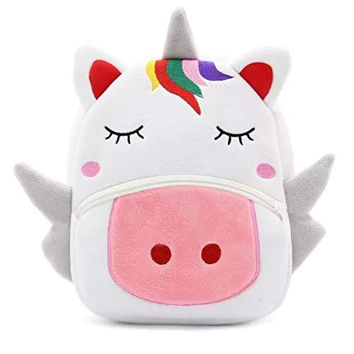 Zaino unicorno per bambini - borsa comoda e soffice perfetta per viaggi, scuola materna e scuola