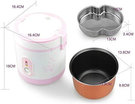 ELYQDDD 1.2L Portable Mini Rice Cooker 2 Petites Couches à Vapeur Multifonction Marmite électrique Isolation Chauffage Cuisinière 1-2 UE Black Black