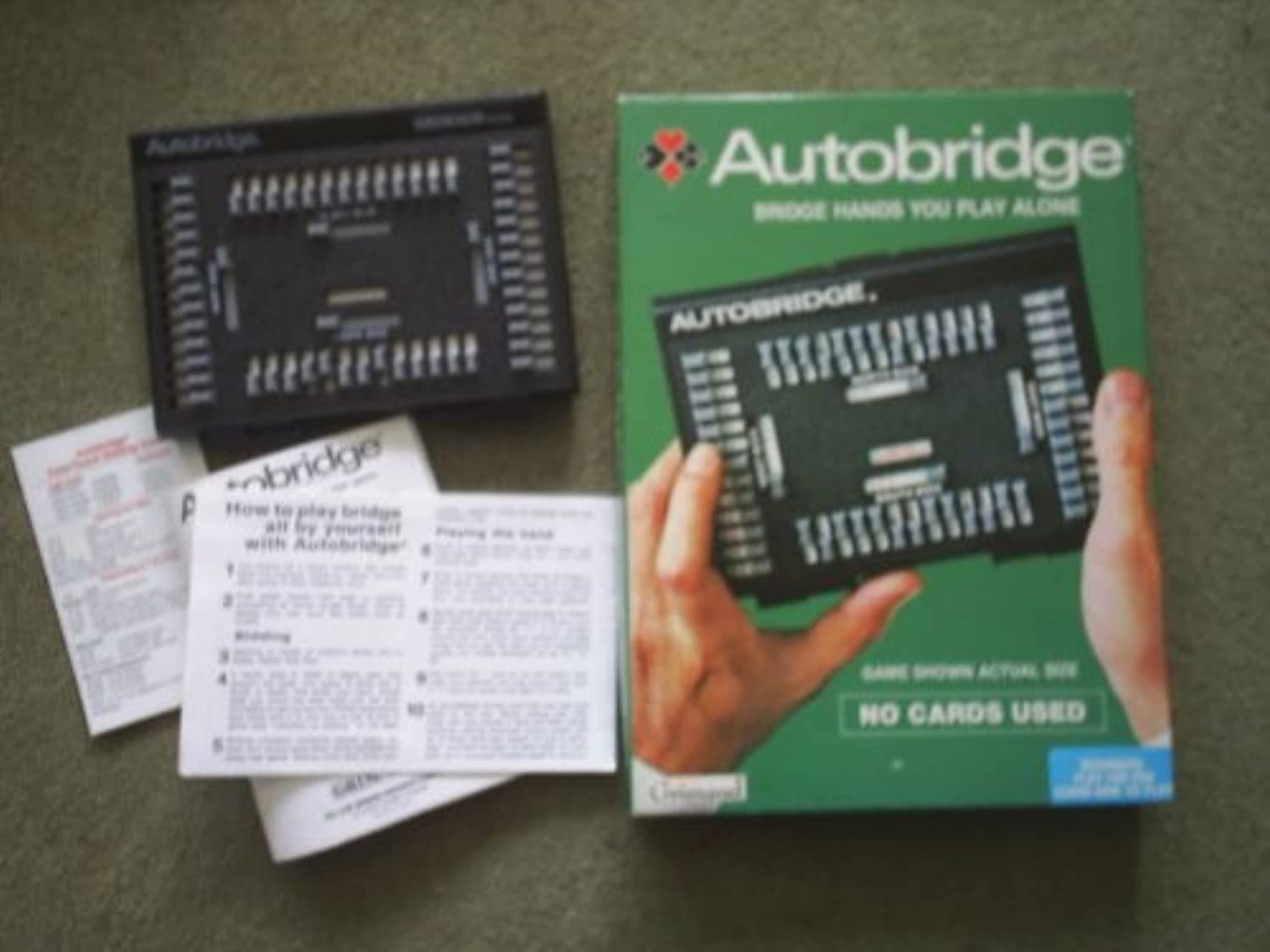 AUTOBRIDGE by GRIMAUD. VINTAGE 1980's GAME. BRIDGE HANDS YOU PLAY ALONE