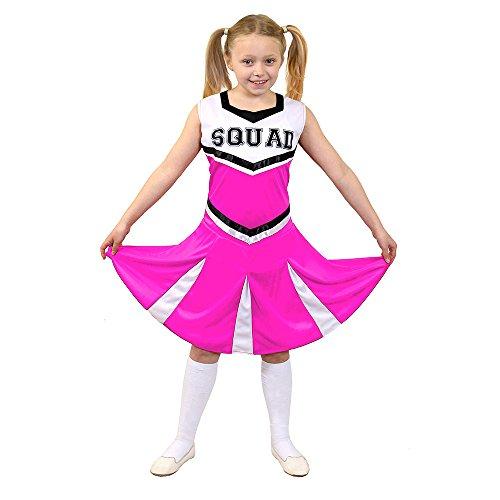 I love Fancy Dress ilfd7097l Cheerleader Fancy jurk kostuum met Squad Print en plooirok (groot)
