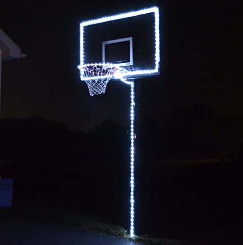 GlowCity Light Up Basketball Hoop Lighting kit(Light Up Basketball Not Inlcuded) (White)