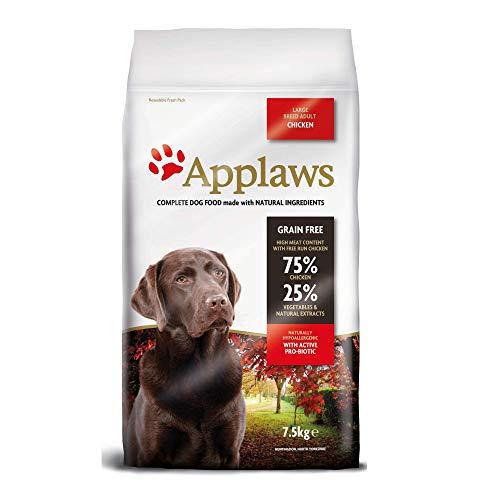 Applaws Natürliche und Getreide frei trockene Hundefutter für Erwachsene und große Rasse Hunde, Huhn, 7,5 kg Tasche