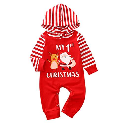 Geagodelia - Pelele para bebé o niña, diseño navideño Rojo – Papá Noel. 3-6 Meses