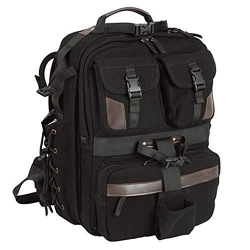JCSW Kamerarucksack, Kameratasche Wasserdicht Stoßfest Mit Gepolsterten Spezialeinteilungen Fotorucksack für Objektive, Laptop, Stativhalter und DSLR-Kameras und Foto Zubehör, schwarz, m006jc