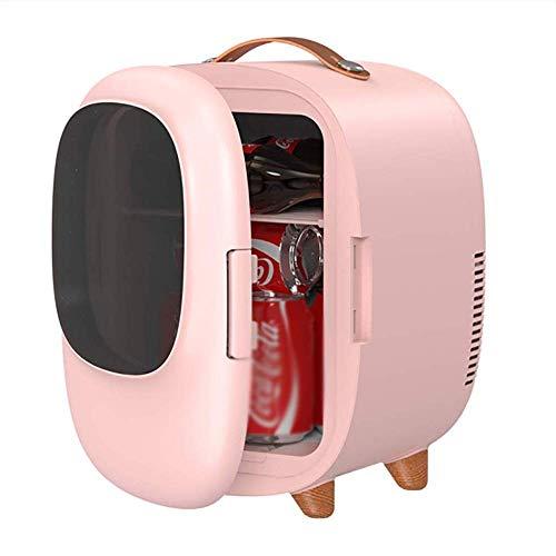 N/Z Home Equipment Mini-Nevera de 8 litros Enfriador y Calentador eléctrico: Sistema termoeléctrico portátil (Rosa) con opción de Banco de energía de CA/CC portátil Refrigeradores de Bebidas (Color: