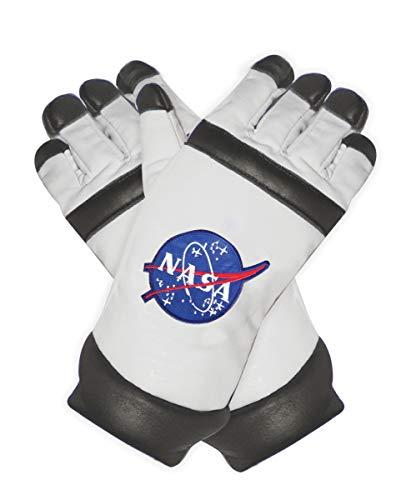 Horror-Shop Weiße NASA Astronauten Handschuhe als Kostümzubehör