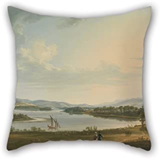 16 X 16 Inches / 40 By 40 Cm Oil Painting Thomas Roberts - Knock Ninney And Lough Erne From Bellisle, County Fermanagh, Ireland Cushion Cases Each Side Ornament And Gift To Couples Bar Home Theate