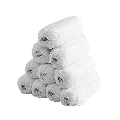 Copriscarpe Monouso Copriscarpe in Tessuto Non Tessuto 400g 100 pezzi(50 paia) mantiene pulito il tappeto della stanza e l'interno dell'auto-Ambienti interni ed esterni-Riciclabili-Bianca