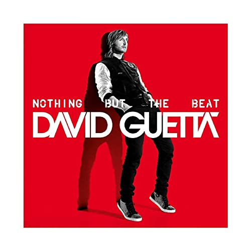 Couverture de l'album de David Guetta – Nothing But The Beat sur toile pour décoration murale de salon, chambre à coucher, sans cadre : 70 × 70 cm
