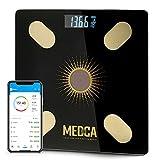 Báscula de grasa corporal - Báscula digital inteligente de vidrio con energía...