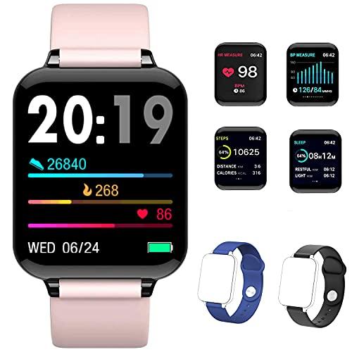 Reloj Inteligente, Uplayteck 1.3inch Pantalla Grande Fitness Tracker con 7 Modos de Deporte, Monitor Actividad Fisica, Frecuenda Cardíaca y Oxígeno en Sangre, Notification de Mensaje, Calorías,Podómetro, Reloj Deportivo IP67 para Mujer y Hombre