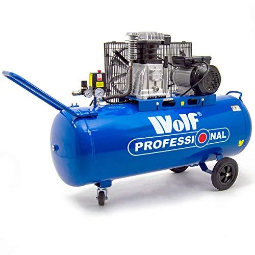 Wolf Dakota Compresseur d'air 150 litres, 3 HP, 14 CFM, 240 V, MWP 150 psi, pompe à double cylindre 10 bar