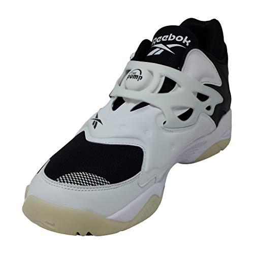 Reebok Men's Pump Court Basketball Shoes, White/White/Black, 9