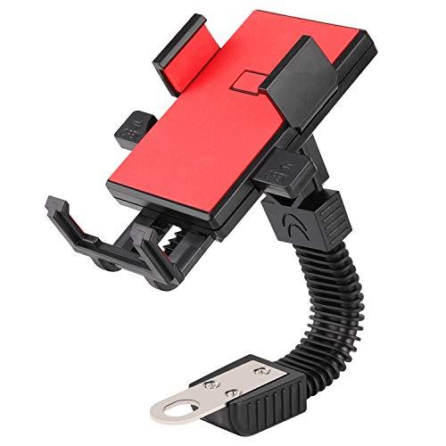 ETbotu telefoonhouder - Motorfiets Telefoonhouder Elektromobiele Motorsteun 3,5-6,5 inch Telefoonstandaard voor Fietsen Elektrische Auto's Motorfietsen, rood;Motorfiets beugel