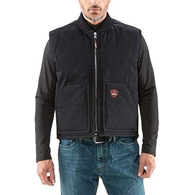 RefrigiWear Men's ComfortGuard Water-Resistant Cotton Denim Insulated Workwear Vest (Black, 4XL) from RefrigiWear