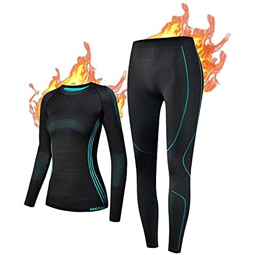 NOOYME Thermal Ropa Interior para Mujer Ropa Interior esquí de Mujer Función de la Mujer Lencería...