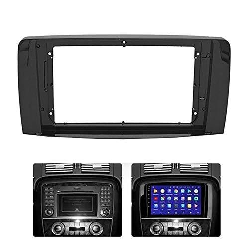 YFQH 2-1DIN Coche Marco de DVD Audio Adaptador de Ajuste Dash Kits Facia Panel Facia Fit para Benz R Clase W251 R280 R300 2006-2013