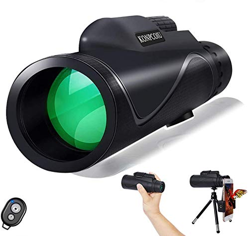 TENESA Monocular Telescopes, Super Power HD Monocular Eyepiece Telescope, Idea for Beginners, with Universal Smartphone Holder, Hiking, Traveling, Bird-Watching, Watch Games, Hunting (40x60)