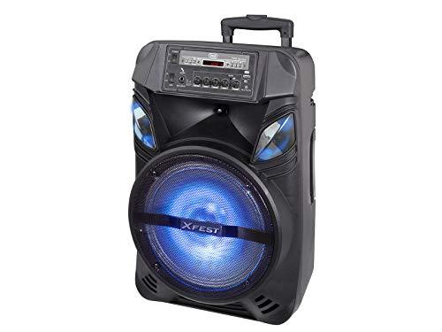 Trevi XFEST XF 1200 KB draagbare luidspreker met MP3, USB, micro, AUX-IN, Bluetooth, TWS-functie, geïntegreerde accu, karaoke party speaker met dinamisch microfoon, inclusief kabel