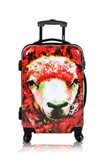 Maleta de Cabina Equipaje de Mano 55x40x20 Maleta Juvenil Trolley de Viaje Ryanair Easyjet Maleta de Viaje Rígida Red Sheep (Preparada para Carga Móviles) TOKYOTO Luggage (Solo Maleta)