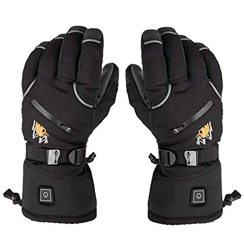 American Mammoth Heated Gloves for Men & Women -Electric Heated Warm Ski Hiking Cycling Motorcycle Winter Mountaineering Outdoor Hunting Gloves | Raynaud & Arthritis Relief | Works Up to 6 Hours