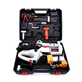 Trihelper Electric Car Jack Kit - 12V Car Jack Set for 3 Ton Vehicle Electric Scissor Car Lift for Tire Change and Road Emergencies with Impact Wrench and Tire Pump (Grey)